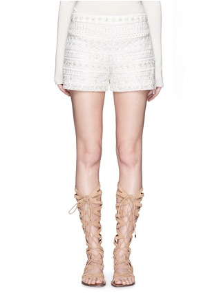 Main View - Click To Enlarge - alice + olivia - Susi' embroidery bead embellished shorts