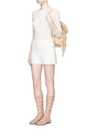 Figure View - Click To Enlarge - alice + olivia - Susi' embroidery bead embellished shorts