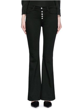 Main View - Click To Enlarge - J Brand - 'Maria' exposed button flared pants
