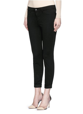 Front View - Click To Enlarge - J Brand - 'Anja' luxe sateen cropped pants