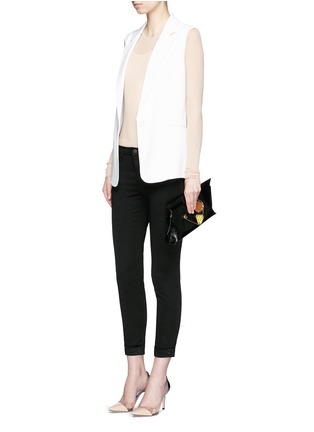 Figure View - Click To Enlarge - J Brand - 'Anja' luxe sateen cropped pants