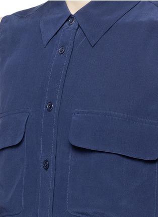 Detail View - Click To Enlarge - Equipment - 'Slim Signature' sleeveless silk shirt
