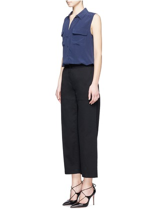 Figure View - Click To Enlarge - Equipment - 'Slim Signature' sleeveless silk shirt