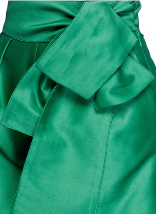 Detail View - Click To Enlarge - ISA ARFEN - Wrap belt cotton-silk shorts