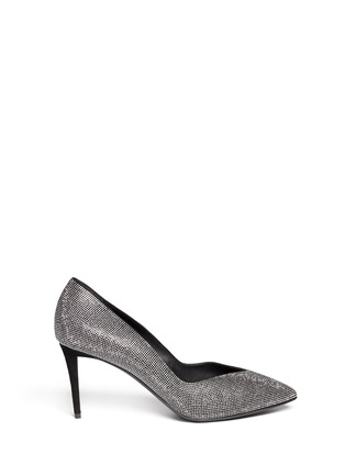 Main View - Click To Enlarge - Giuseppe Zanotti Design - 'Olinda' V-throat stud suede pumps