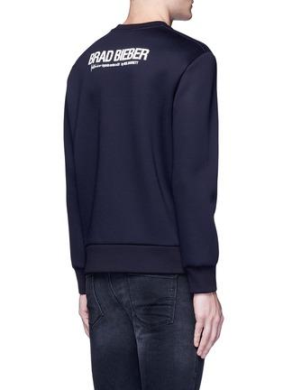 Back View - Click To Enlarge - Neil Barrett - x Interview 'Brad Bieber' hybrid print sweatshirt