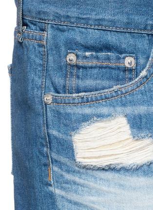 Detail View - Click To Enlarge - RAG & BONE/JEAN - 'Cut Off' distressed denim shorts