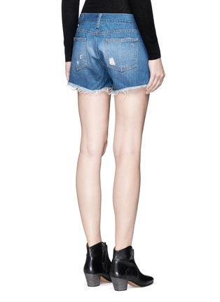 Back View - Click To Enlarge - RAG & BONE/JEAN - 'Cut Off' distressed denim shorts