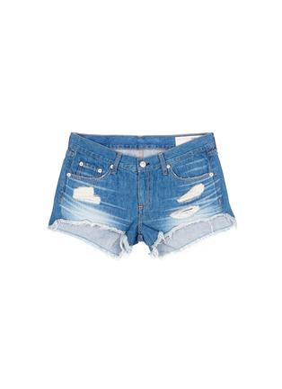 Main View - Click To Enlarge - RAG & BONE/JEAN - 'Cut Off' distressed denim shorts