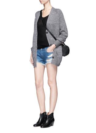 Figure View - Click To Enlarge - RAG & BONE/JEAN - 'Cut Off' distressed denim shorts