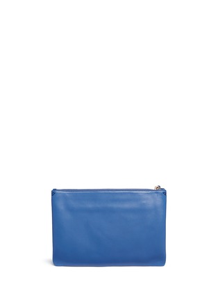 Back View - Click To Enlarge - Anya Hindmarch - 'Smiley Georgiana' perforated leather tassel clutch