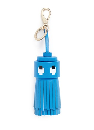 Main View - Click To Enlarge - Anya Hindmarch - 'Ghost' character tassel leather keyring