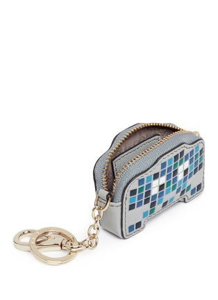 Detail View - Click To Enlarge - Anya Hindmarch - 'Space Invaders Robot' embossed leather coin pouch
