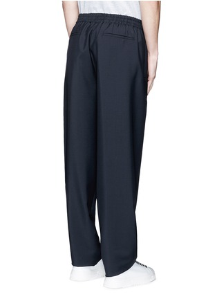 Back View - Click To Enlarge - Balenciaga - Relaxed fit seamless wool-Mohair jogging pants
