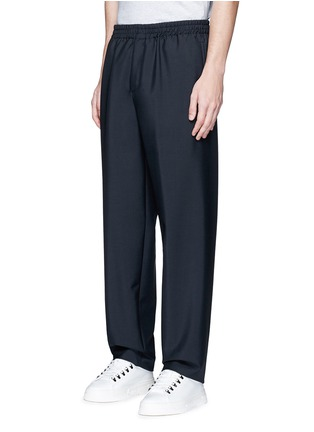 Front View - Click To Enlarge - Balenciaga - Relaxed fit seamless wool-Mohair jogging pants