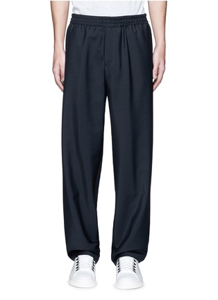 Main View - Click To Enlarge - Balenciaga - Relaxed fit seamless wool-Mohair jogging pants