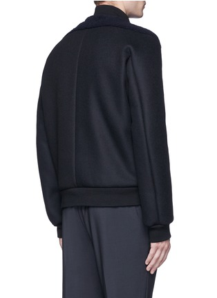 Back View - Click To Enlarge - Balenciaga - Shearling front bomber jacket