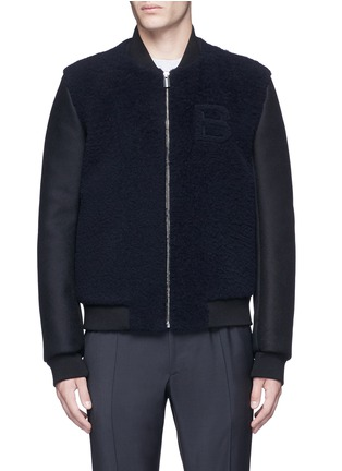 Main View - Click To Enlarge - Balenciaga - Shearling front bomber jacket