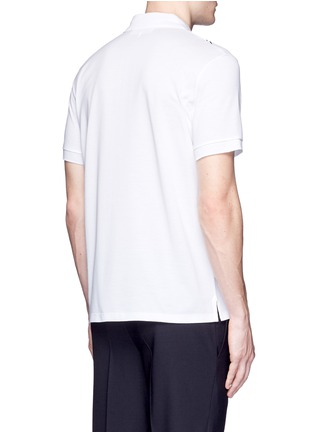 Back View - Click To Enlarge - Neil Barrett - Thunderbolt print polo shirt
