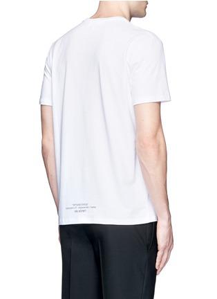 Back View - Click To Enlarge - NEIL BARRETT - 'Tattoo Sculpture' print T-shirt