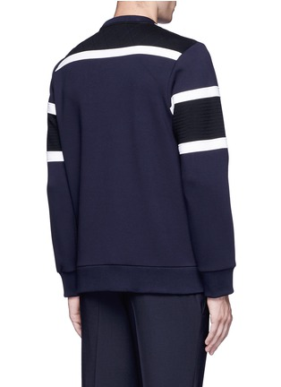 Back View - Click To Enlarge - NEIL BARRETT - Tricolour panelled side zip sweatshirt