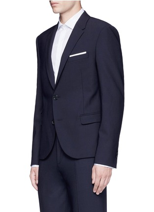 Front View - Click To Enlarge - Neil Barrett - Slim fit bistretch gabardine blazer
