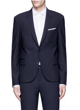 Main View - Click To Enlarge - Neil Barrett - Slim fit bistretch gabardine blazer