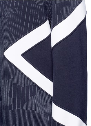Detail View - Click To Enlarge - Neil Barrett - Camouflage pinstripe panelled sweatshirt