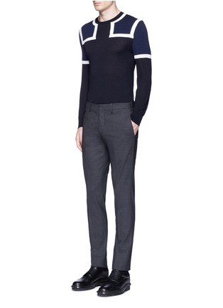 Figure View - Click To Enlarge - Neil Barrett - Shoulder panel Merino wool sweater
