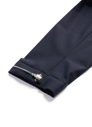 Detail View - Click To Enlarge - Neil Barrett - Adjustable zip cuff bistretch gabardine pants