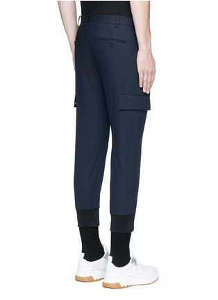 Back View - Click To Enlarge - Neil Barrett - Skinny fit zip cuff cargo pants