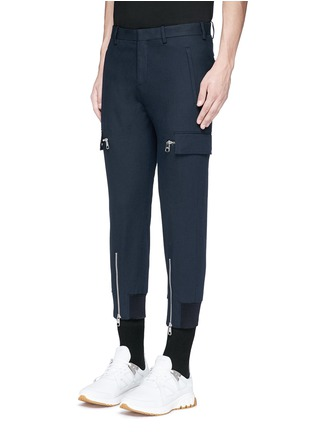 Front View - Click To Enlarge - NEIL BARRETT - Skinny fit zip cuff cargo pants