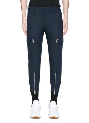 Main View - Click To Enlarge - NEIL BARRETT - Skinny fit zip cuff cargo pants