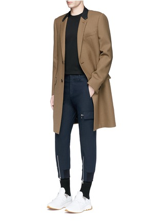 Figure View - Click To Enlarge - Neil Barrett - Skinny fit zip cuff cargo pants