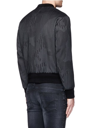 Back View - Click To Enlarge - Neil Barrett - Camouflage pinstripe bomber jacket