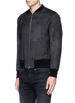 Front View - Click To Enlarge - Neil Barrett - Camouflage pinstripe bomber jacket