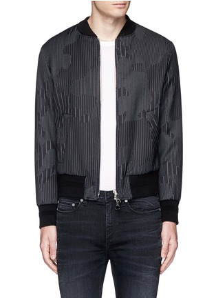 Main View - Click To Enlarge - Neil Barrett - Camouflage pinstripe bomber jacket
