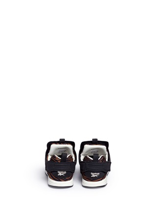 Back View - Click To Enlarge - Reebok - x Disney 'Versa Pump Fury JB' zebra print toddler sneakers
