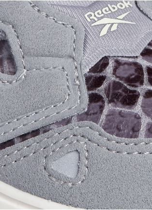 Detail View - Click To Enlarge - Reebok - x Disney 'Versa Pump Fury JB' snakeskin embossed toddler sneakers