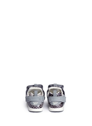 Back View - Click To Enlarge - Reebok - x Disney 'Versa Pump Fury JB' snakeskin embossed toddler sneakers