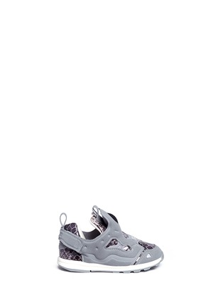 Main View - Click To Enlarge - Reebok - x Disney 'Versa Pump Fury JB' snakeskin embossed toddler sneakers