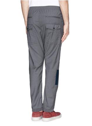 Back View - Click To Enlarge - MAURO GRIFONI - Elastic waist fleece wool pants