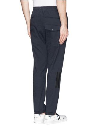 Back View - Click To Enlarge - MAURO GRIFONI - Elastic waist stripe seersucker pants