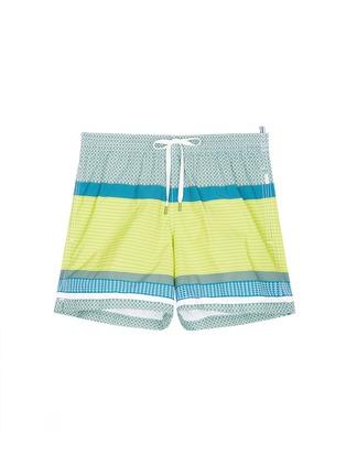 Main View - Click To Enlarge - DANWARD - Mid length geometric print swim shorts