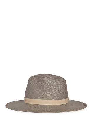 Figure View - Click To Enlarge - Janessa Leone - 'Bailey' leather band straw Panama hat