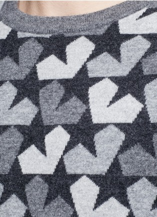 Detail View - Click To Enlarge - Ports 1961 - Star camouflage jacquard wool sweater