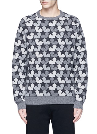 Main View - Click To Enlarge - Ports 1961 - Star camouflage jacquard wool sweater