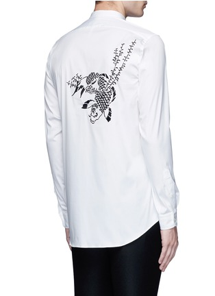 Back View - Click To Enlarge - Ports 1961 - Bird embroidered cotton shirt