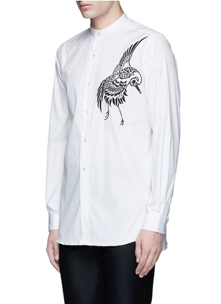 Front View - Click To Enlarge - PORTS 1961 - Bird embroidered cotton shirt