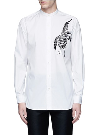 Main View - Click To Enlarge - Ports 1961 - Bird embroidered cotton shirt